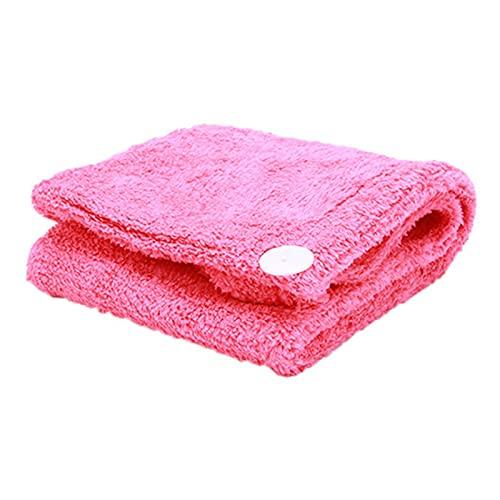 XMYINGWEI Seco Pelo Sombrero Toalla de sequía Pelo Color sólido Universal Barato de Microfibra de Secado rápido del baño del Casquillo del Sombrero de Pelo Toallas (Color : Red)