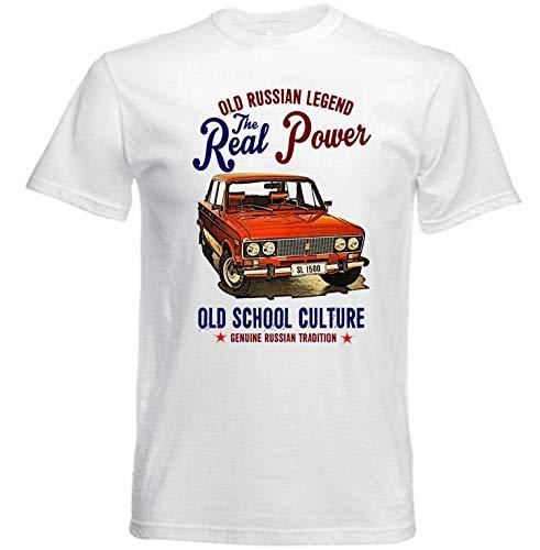 Vintage Russian Lada 1500 SL CAR New Cotton Ment-Shirt