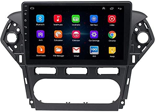 Hesolo Navegación GPS estéreo para Coche MP5 Compatible con Ford Mondeo 2011-2013 navegador Android cámara de visión Trasera de Pantalla Grande