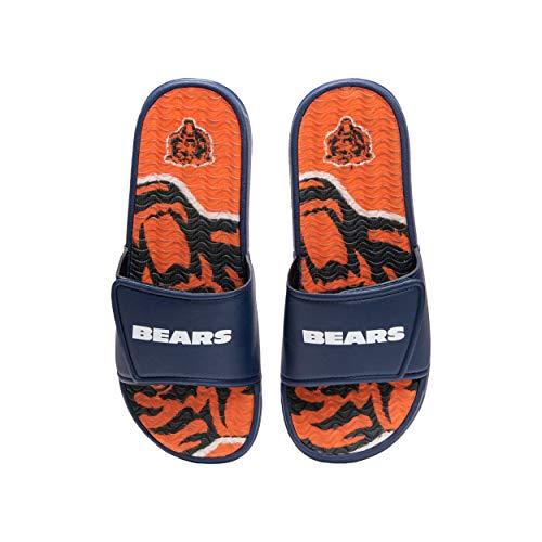 FOCO NFL Chicago Bears Herren Sport Shower Gel Slide Flip Flop Sandalen Sport Shower Gel Slide Flip Flop Sandalen Wordmark Medium (9-10), Modellnummer: FFSSNFCBBLGGEL