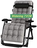 TOPNIU Silla al Aire Libre reclinable de sillas de Cubierta, con Taza y Titular de Taza, Cojines reclinables, Tumbona, baños del Sol, cojín reclinable
