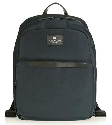 Zaino Backpack Porta Pc Porta Tablet fino a 15' A.G. SPALDING & BROS Uomo Man Donna Woman Blu Blue Black Nero 31,5 X 44 X 14 cm 185701-Blu