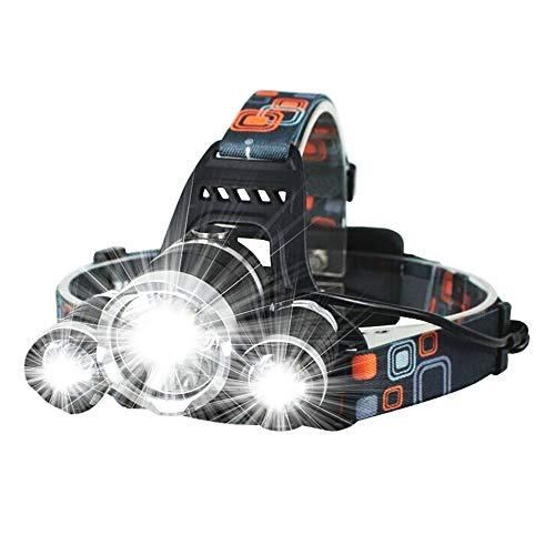 Strandzelt Super helle Scheinwerfer 3 Arten von lichtmodus Scheinwerfer geeignet für Camping reiten led Scheinwerfer Taschenlampe Camping Zelt (Color : Black)