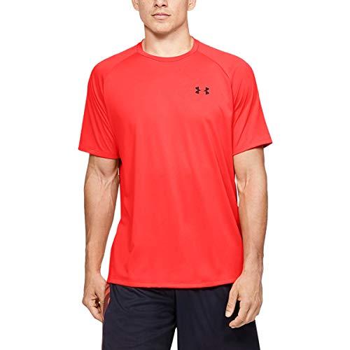 Under Armour Herren Tech atmungsaktives Sportshirt, kurzärmliges und schnelltrocknendes Trainingsshirt mit Loser Passform, Beta / / Black (629), XL