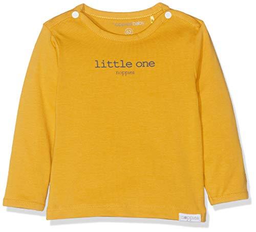 Noppies Unisex Baby U Tee ls Hester Text T-Shirt, Gelb (Honey Yellow C036), 62