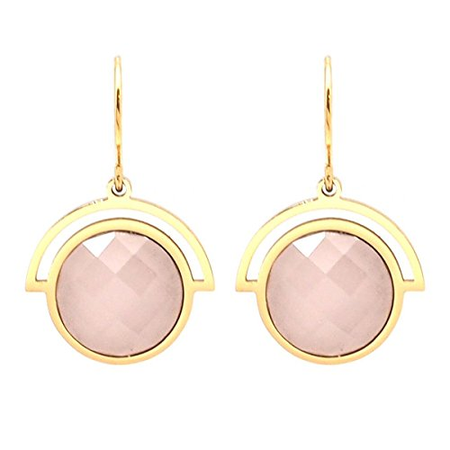 Les Trésors De Lily [Q1000] - Ohrringe designer stahl 'Boho' roségold - 18x15 mm.