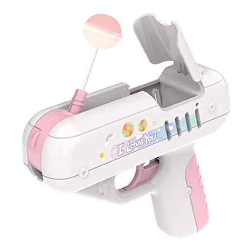 MSYG Lollipop Gun Candy Gun, juguete para niños, regalo de sorpresa, juguetes ligeros, juguetes de almacenamiento para niños (sin caramelos)