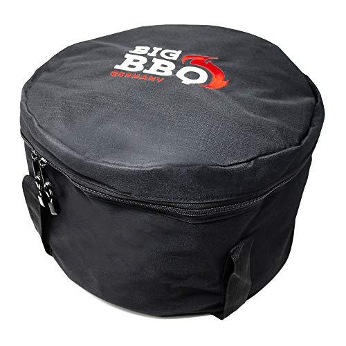Big BBQ Transporttasche für 6/9 QT Gusseisen Topf Dutch Oven | Transport- und Aufbewahrungstasche mit Zubehörfach | Schwarz