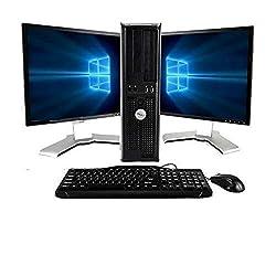top 10 recircuit computer refurbishers DellOptiPlex Dual Core 3.0 PC Suite, New 8 GB RAM, 250 GB Hard Drive, Windows 10 Home Edition,…
