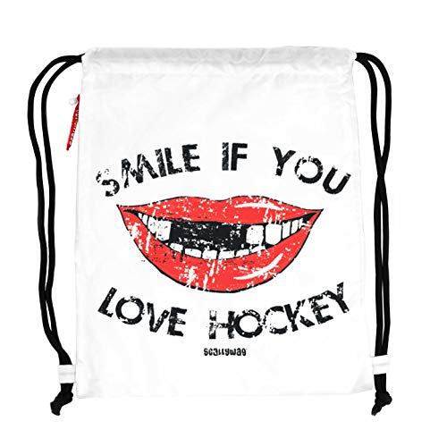 Scallywag® Eishockey Tasche Hockey Smile I A BRAYCE® Collaboration (Gymsack mit Seitentasche)