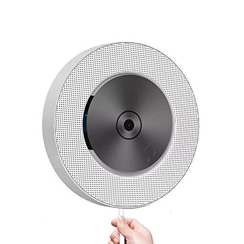 Seihoae Portátil Montar en la Pared de CD Reproductor de DVD con Bluetooth Audio Estéreo portátil con Control Remoto Radio FM incorporada en Altavoces de Alta fidelidad