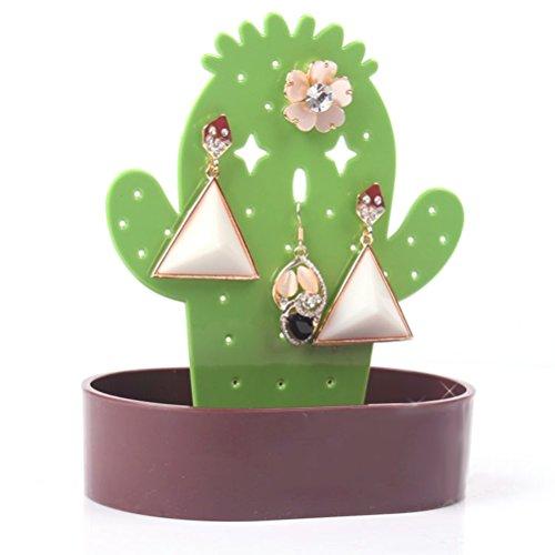 BESTOYARD sieradenstandaard, schattig cactusdesign, sieradendoos, oorbellen, ringen, armband, bewaren (koffie)