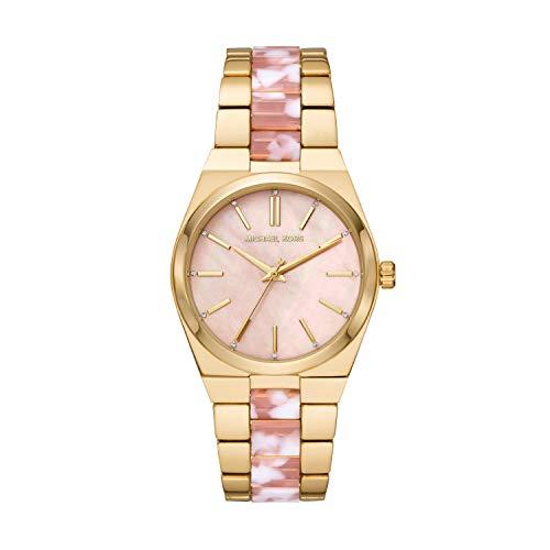 Michael Kors Damen Analog Quarz Uhr mit Edelstahl Armband MK6650