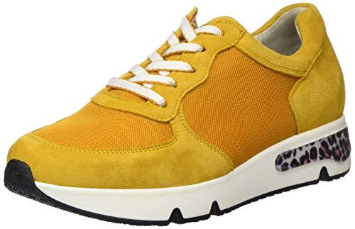 Gabor Damen Comfort Basic 46.345 Sneaker, Gelb (Mango (Leo) 22), 37 EU
