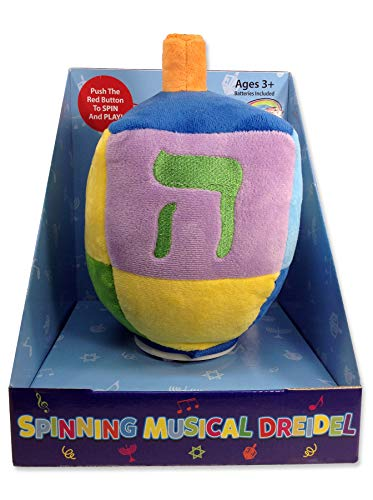 Spinning Musical Dreidel Plush Toy