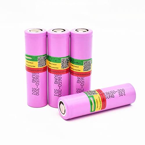 4pcs 18650 3000mah 3.7v Batería Recargable De Iones De Litio De Alta Capacidad Recargable, Utilizada para La CáMara De Audio Walkie Talkie De Impresora De Linterna