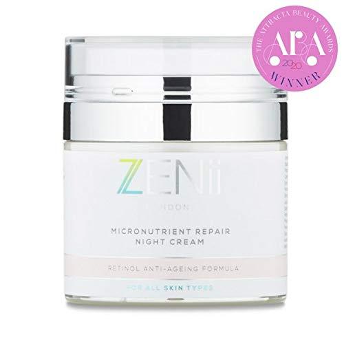 Micronutrient Repair Night Cream with Retinol, Hyaluronic Acid, Vitamin A, C & E. Anti-Ageing formula.Helps to restore, repair and rehydrate the skin, a multivitamin for the skin. Doctor formulated