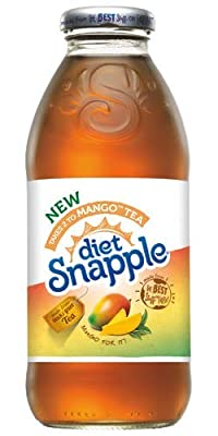 Snapple All Natural Fruit Flavored Teas and Juices, 16 oz Plastic Bottles (Diet Mango Tea, Pack of 12)