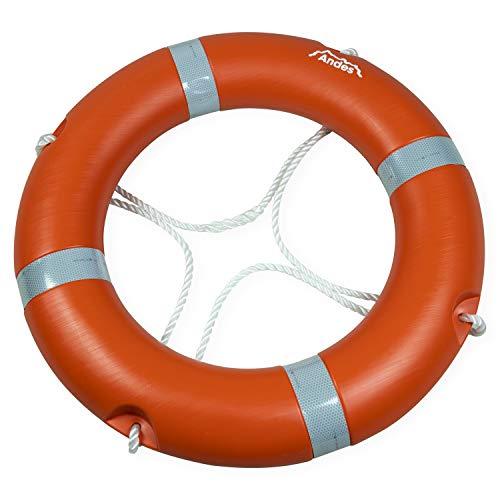 Andes - Rettungsring für Erwachsene - Ausstattung für Schwimmbecken - CE-Kennzeichnung - Orange - 2,5 kg