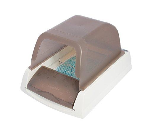 PetSafe スクープフリー ウルトラ 猫 トイレ ネコ 自動 トイレ 自動清潔 旅行 猫のトイレ手間なし 猫用トイレ本体 臭わない 砂をすくわなくていい 掃除の必要がない 清潔さを保つ 組立しやすい 蓋つき 1個 (x 1)
