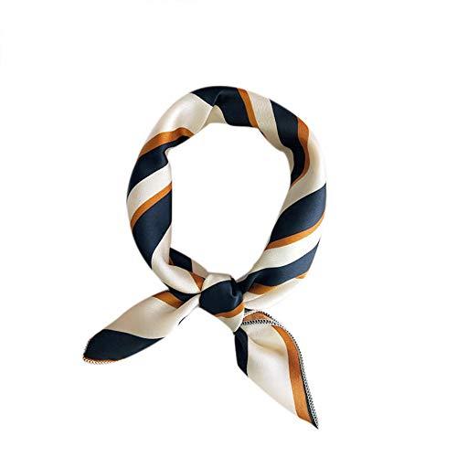 LWYLBP Weiche Chiffon Quadratischen Schal Haargummi Band Für Business Party Frauen Elegante Kleine Seide Mode Geburtstagsgeschenk Respekt-A