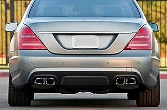 ProooAuto AMG Style Chrome Exhaust Muffler Tips for Mercedes Benz W212 W221 W204 W205 W218