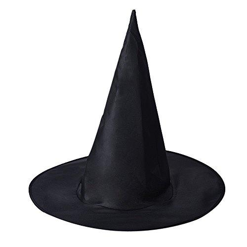 MAXGOODS 2 STK Zauberin Spitzer Hut Frauen Schwarzer Hexenhut für Halloween Kostüm Party Zubehör
