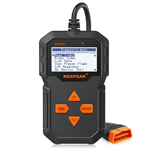 NEXPEAK Obd2 Scanner, NX301 Code Reader, Portable Car Diagnostic...