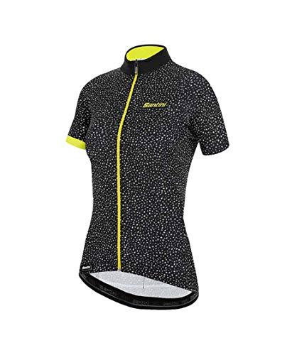 Santini Fahrradbekleidung für Damen, Sommertrikot Jade Hip (M, schwarz)