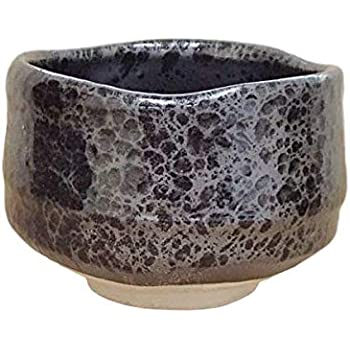 Matcha bowl 4.92 dia Authentic Mino Ware Pottery crackle glaze pattern Grey KG775402 from Japan Japanese tea cup for tea ceremony Ofuke Chawan