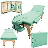 Massage Imperial® Chalfont Light Green 3-Section Portable Massage Table Couch Bed