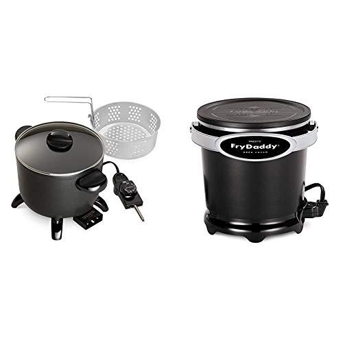Presto 06006 Kitchen Kettle Multi-Cooker/Steamer & 05420 FryDaddy Electric Deep Fryer,Black