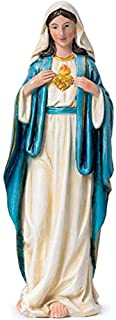 JoyStar Crafts The Virgin Mary Immaculate Heart of Mary Resin Statue 8 Inch