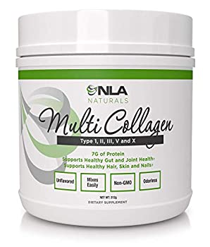 NLA for Her Multi Collagen  40 Servings  - 5 Types of Food Sourced Collagen - Type I II III V and X  Unflavored Keto Friendly  - Stronger Hair Skin & Nails