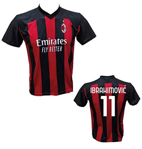 DND Di Andolfo Ciro Fußballtrikot Zlatan Ibrahimovic 11 Milan Lizenznachbildung 2020-2021 Größen für Kinder und Erwachsene (8 Jahre)
