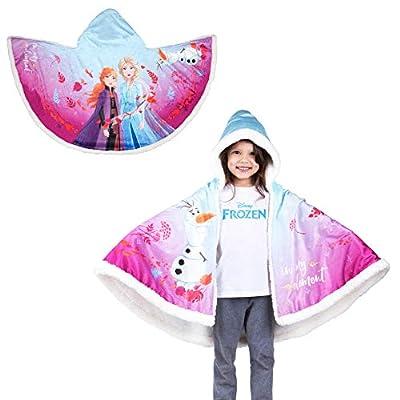 "Franco Kids Bedding Super Soft and Cozy Snuggle Wrap Hoodie Blanket, 55"" x 31"", Disney Frozen 2"