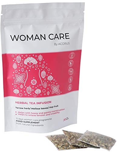 ACORUS Women Care Kräutertee ● 15 Tage Tee Programm ● Tee für Frauen Empfohlen während der Menstruation mit Schafgarbenkraut