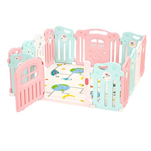 Fantastic Deal! Hfyg Play Pen Baby Playpen Colorful Panels Safety Lock, As Infant & Toddlers Activit...