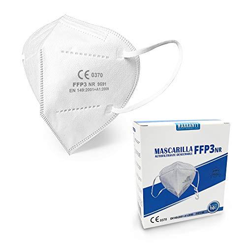 Mascarilla filtrante de partículas FFP3 NR Cumple con EN 149: 2001 + A1: 2009 Certificación CE (10-PACK)