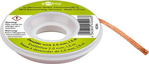 Fixpoint Soldadura desoldar para eliminación de estaño a 1,5m, 1pieza, 2mm