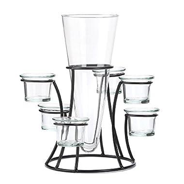 VERDUGO GIFT Circular Candle Stand Centerpiece Vase