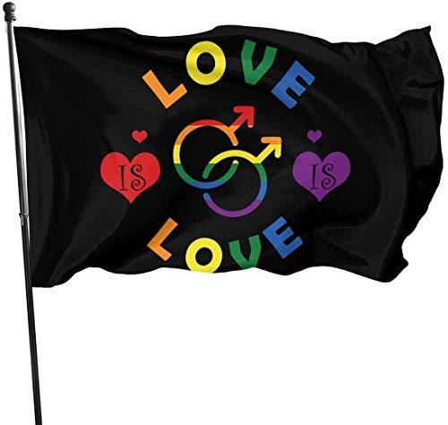 Garten Flagge, Patry Flagge, 3 X 5 ft Homosexualität Liebe dekorative Garten Fahnen, Outdoor künstliche Flagge für Zuhause, Garten Hof Dekorationen