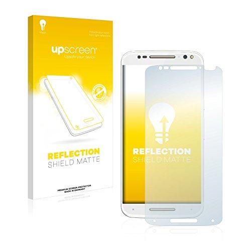 upscreen Entspiegelungs-Schutzfolie kompatibel mit Motorola Moto X Style – Anti-Reflex Bildschirmschutz-Folie Matt