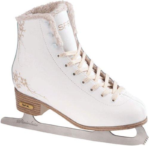 SFR Skates Glitra Patines Sobre Hielo, Unisex Niños, Blanco/(White), 37