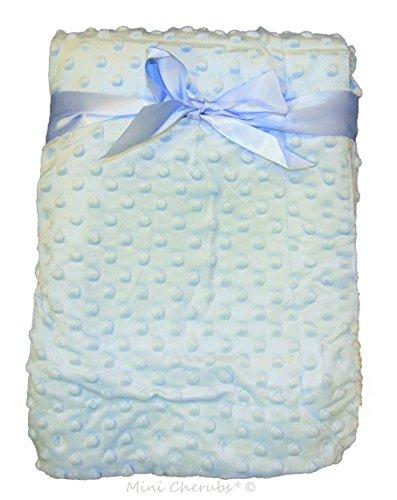 Couverture à bulles/douce en velours pour bébé Couleur Bleu