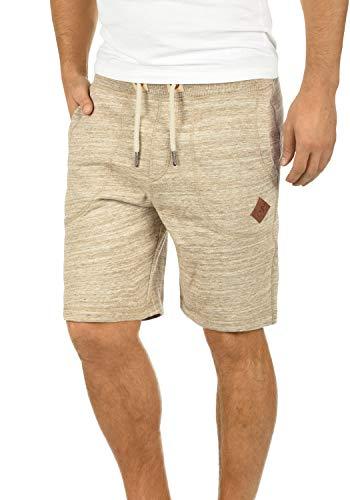 !Solid !Solid Aris Herren Sweatshorts Kurze Hose Jogginghose Mit Melierung Und Kordel Regular Fit, Größe:M, Farbe:Dune (5409)
