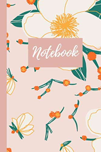 Notebook: cute pink floral notebook lined