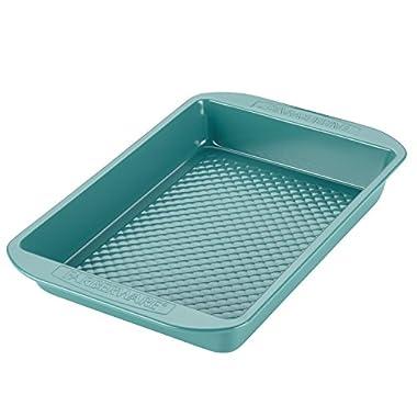 Farberware purECOok Hybrid Ceramic Nonstick Bakeware Baker & Rectangular Cake Pan, 9-Inch x 13-Inch, Aqua