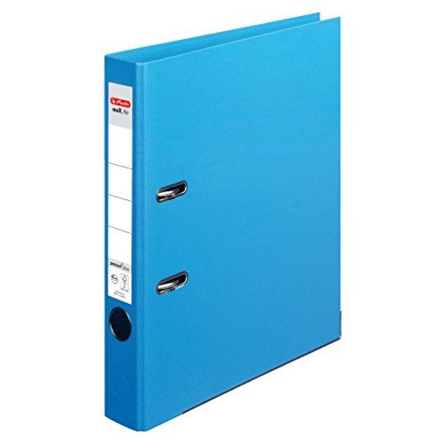Herlitz 10834828 Ordner maX.file protect+ (A4, 5 cm, Voll-Folienbezug) hellblau