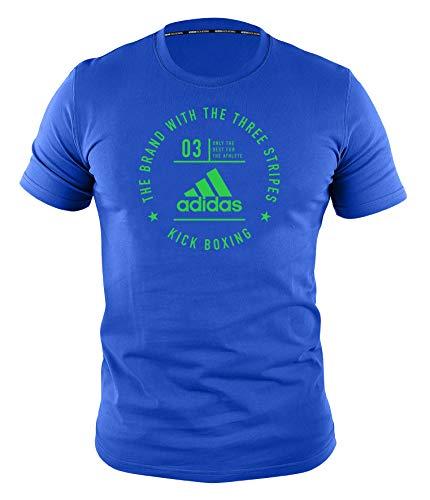 adidas Erwachsene Community Line T-Shirt, blau/Grün, L